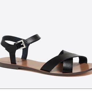 J. Crew Black Sandals NWOT